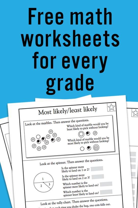 FREE Printable Math Worksheets for Preschool and Every Elementary ...