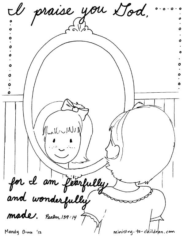 Psalm 139 Bible Coloring Page I Am Fearfully Made Bible