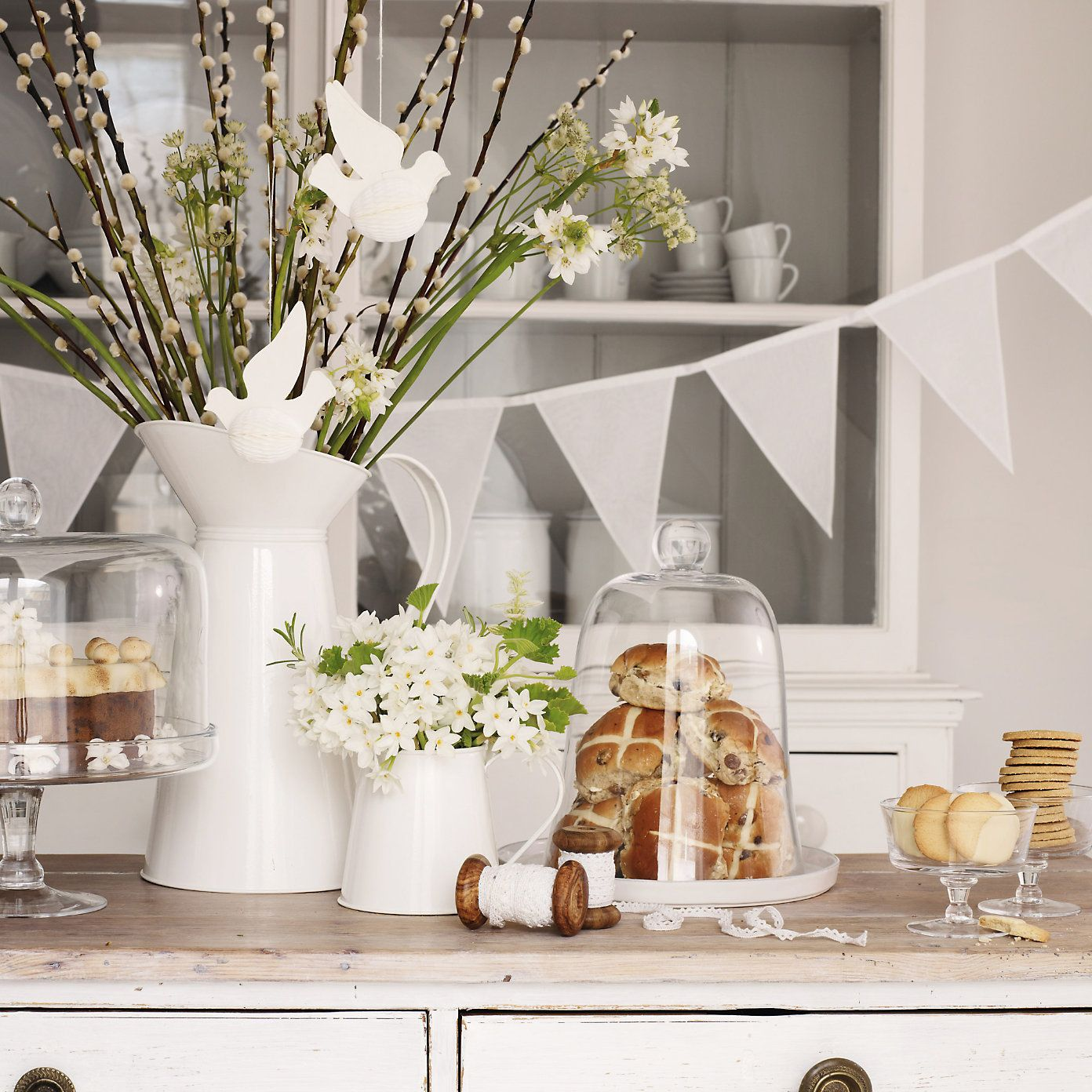 Heart organdy bunting the white company easter pinterest heart organdy bunting the white company mightylinksfo