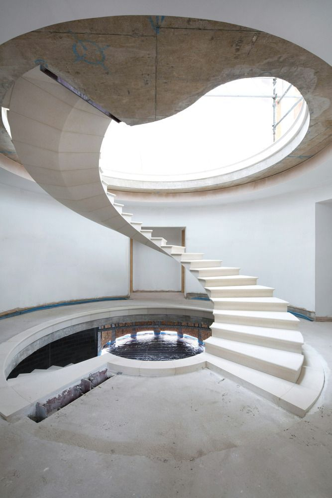Gallery Of See The Engineering Behind This Floating Award | Helical Staircase Structural Design