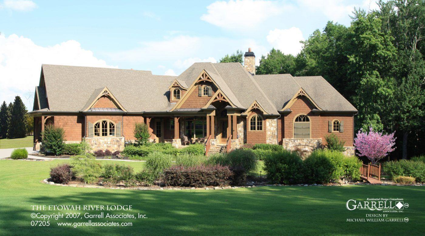 Etowah River Lodge House Plan 07205 Garrell Associates Inc Craftsman Style House Plans Ranch Style House Plans Ranch Style Homes