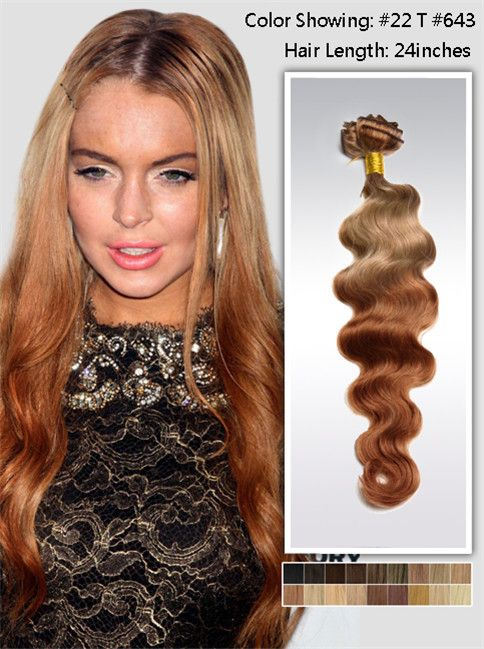R U S T I C Two Tone Ombre Human Hair Extensions Dip Dye Wefts