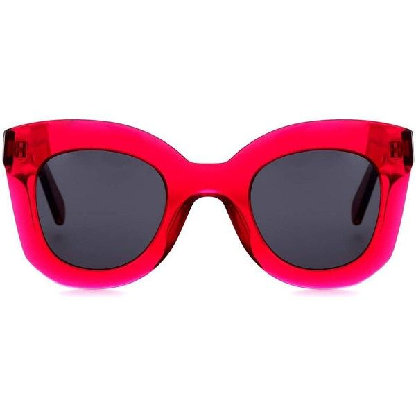 d9c3eebb54e Céline Eyewear Marta Square Sunglasses ( 320) ❤ liked on Polyvore featuring  accessories