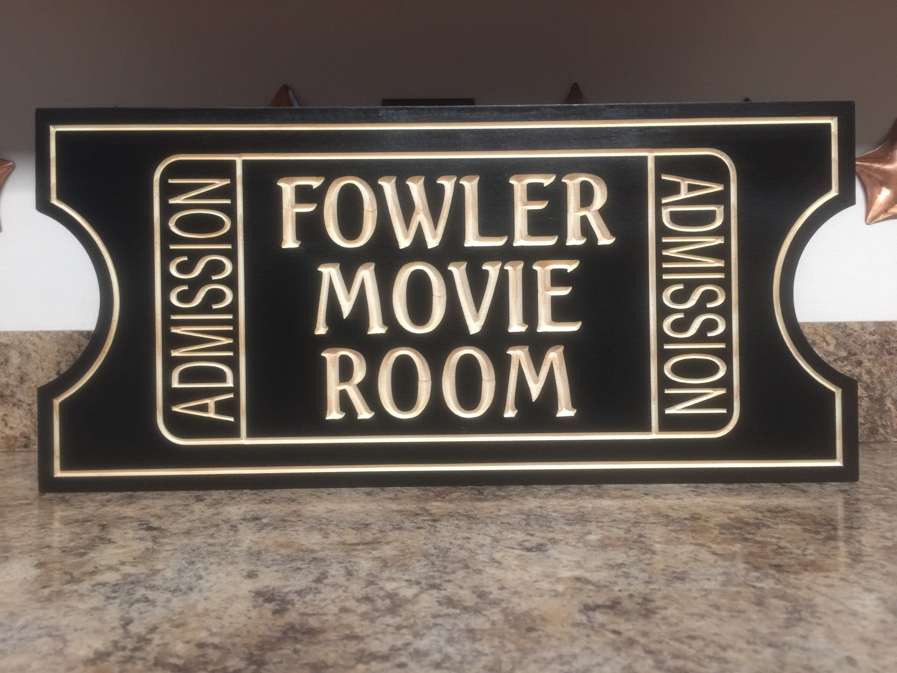 Movie poster movie room decor basement decor home sign home theater