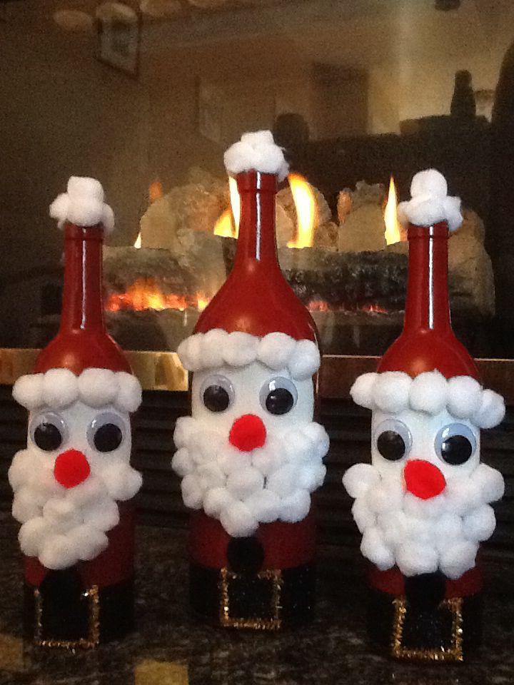 santa wine bottles noel bricolage noel noel  cadeau