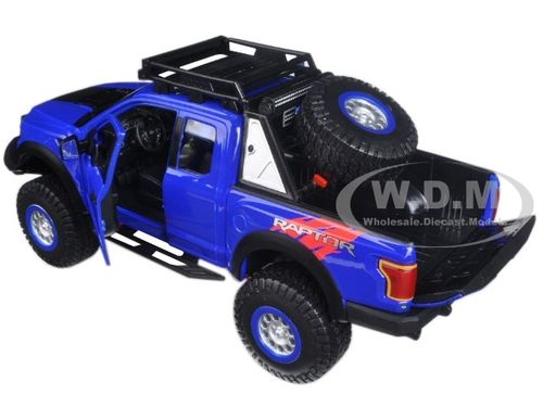 Ford Raptor Pickup Truck Blue Off Road Kingscast Model Car Maisto