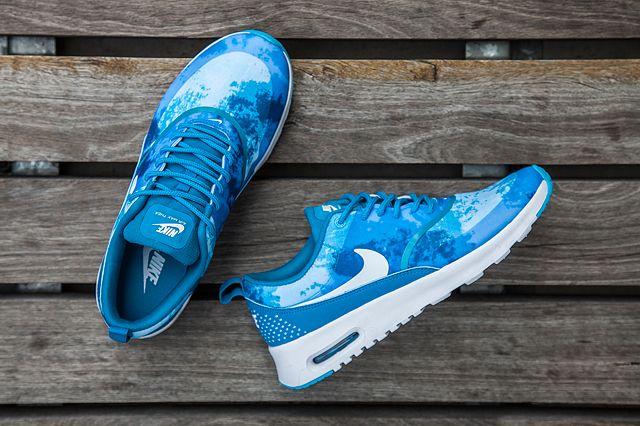 nike air max blue leopard print