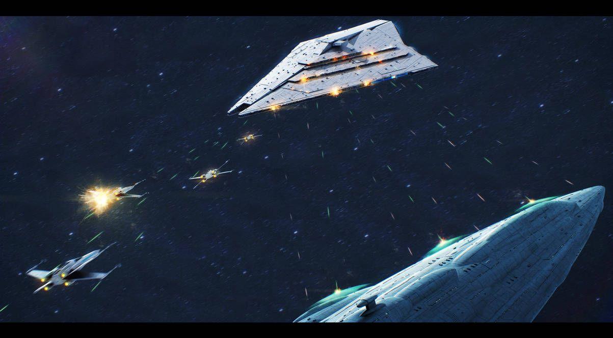Star Wars Mc85 Versus Imperator Ii Class Isd By Adamkop Star