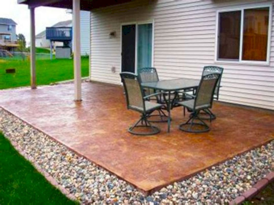 Gorgeous 20 Diy Backyard Patio Ideas To Increase Your Backyard Garden Freshouz Com Concrete Patio Designs Diy Patio Backyard Patio