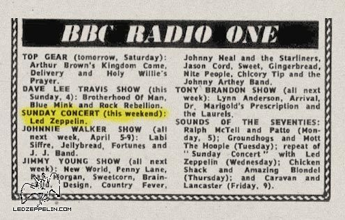 BBC - April 1971 (ad / listing)
