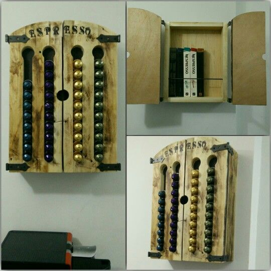 the most beautiful nespresso capsules holder made from. Black Bedroom Furniture Sets. Home Design Ideas