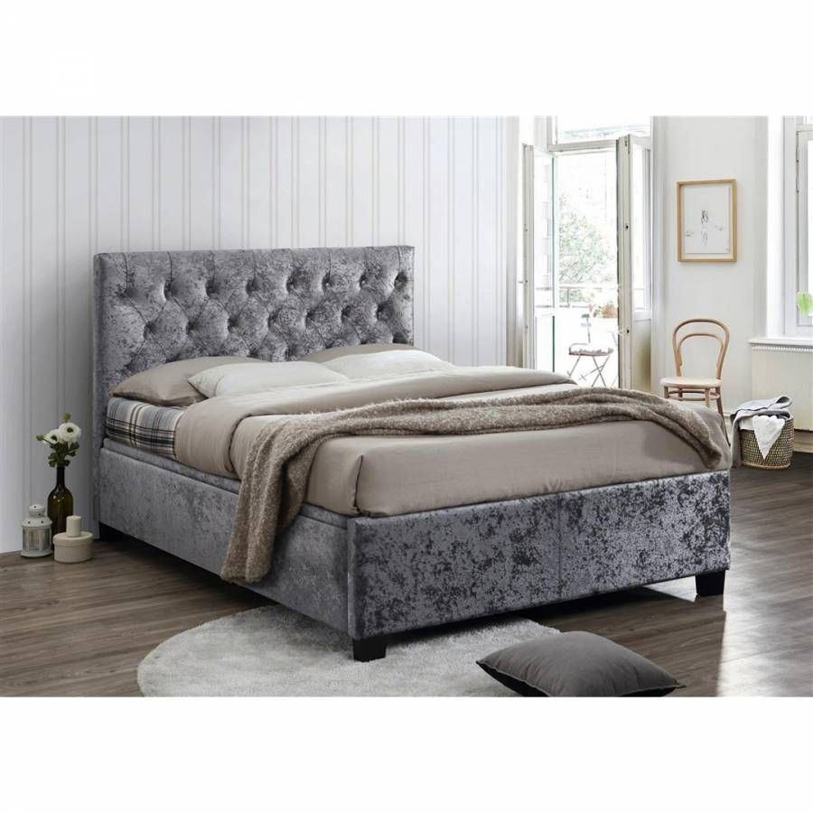 Astounding Birlea Cologne Double Ottoman Bed Steel Crushed Velvet Caraccident5 Cool Chair Designs And Ideas Caraccident5Info