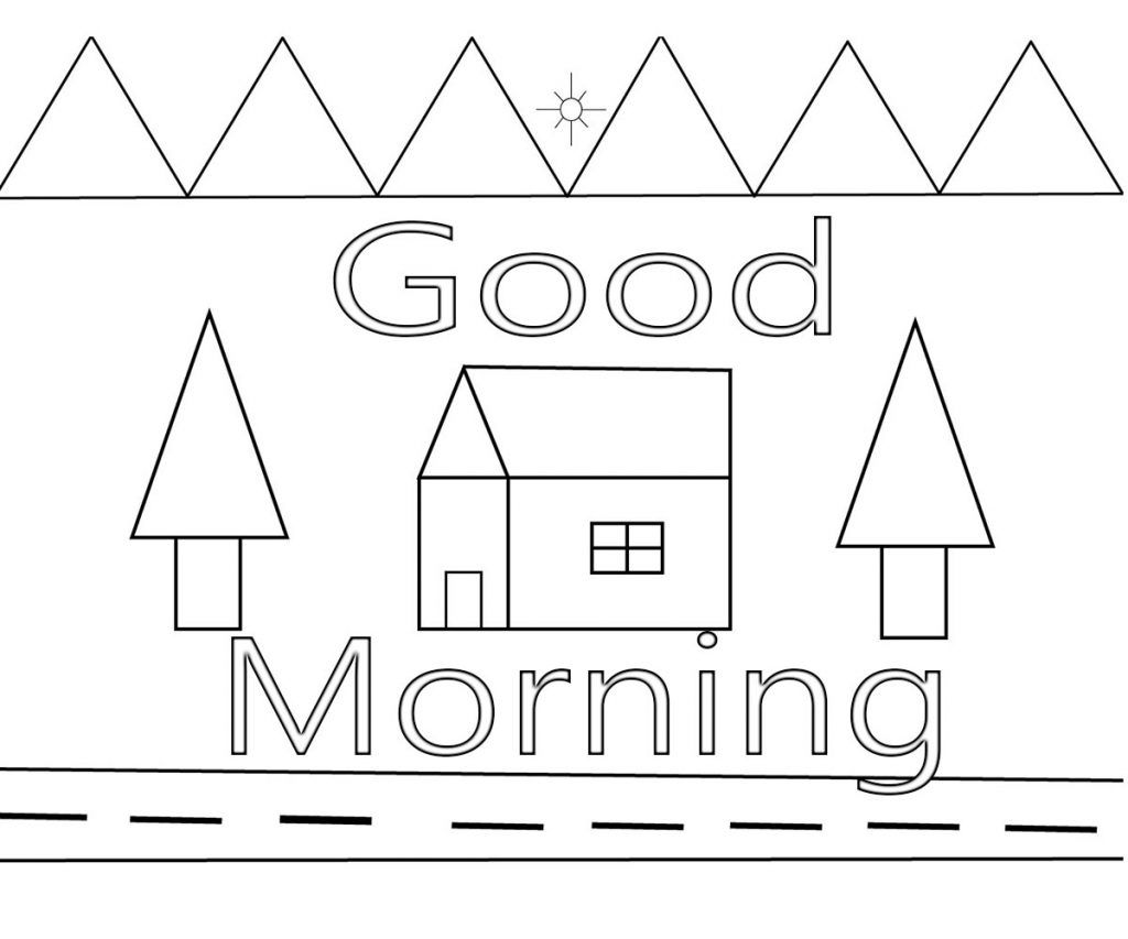 Good Morning Coloring Pages Free Download