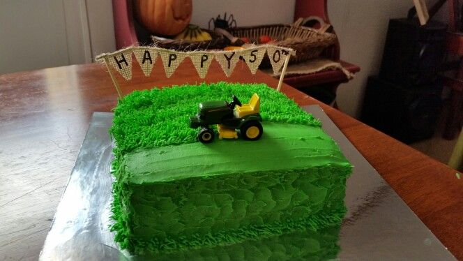 Lawn mowing cake for my brother's 50th bday. | Cake ...