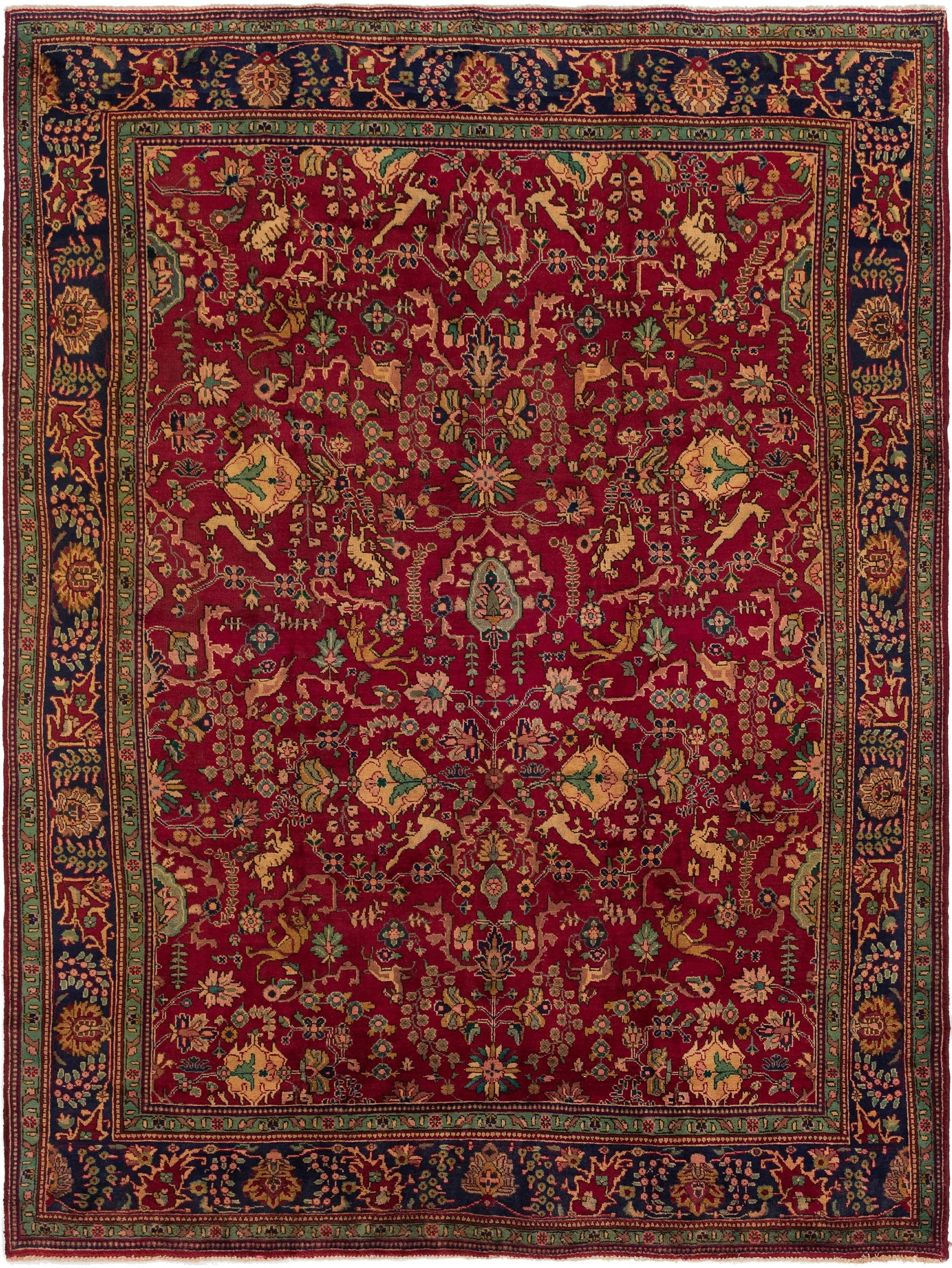 Red 9 5 X 12 10 Tabriz Persian Rug Handknotted Com Rugs Persian Rug Custom Size Rugs