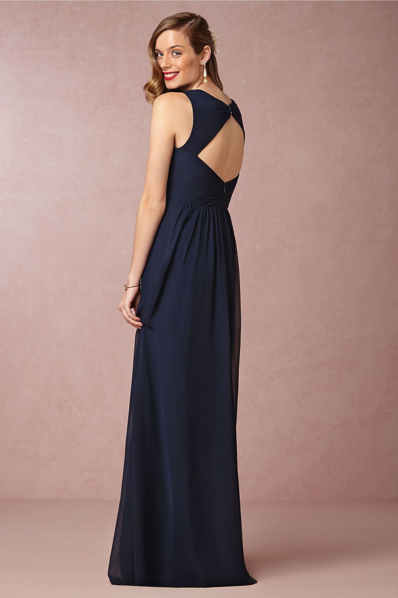 Lujo Navy Blue Bridesmaids Dress Festooning - Colección de Vestidos ...