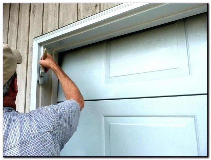 Painting Trim Around Garage Door Garage Door Diy Projects Garage Garage Doors Overhead Garage Door