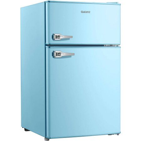 Free Shipping Buy Galanz 31 cu ft Double Door Blue Cabinet and