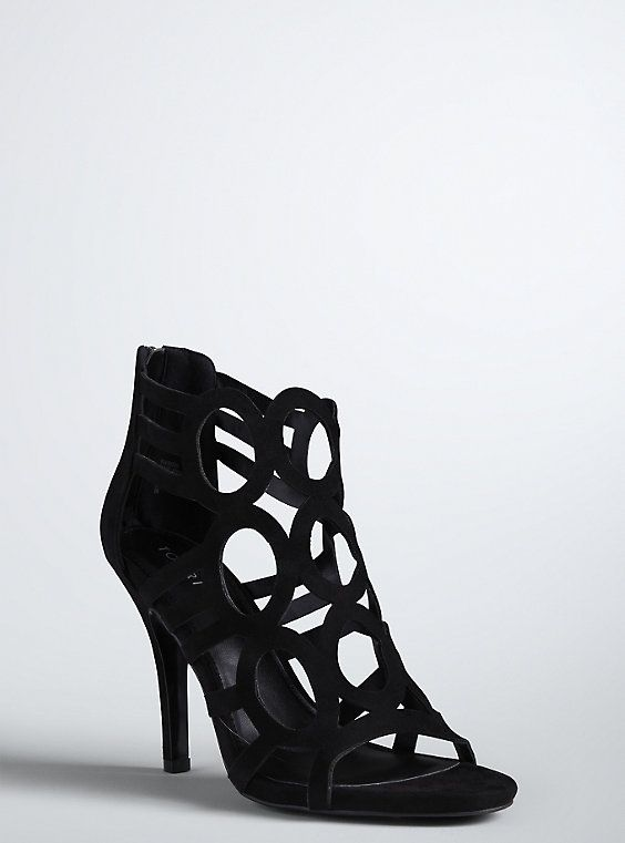 Circle Design Strappy Heels (Wide Width), BLACK | Torrid Finds ...