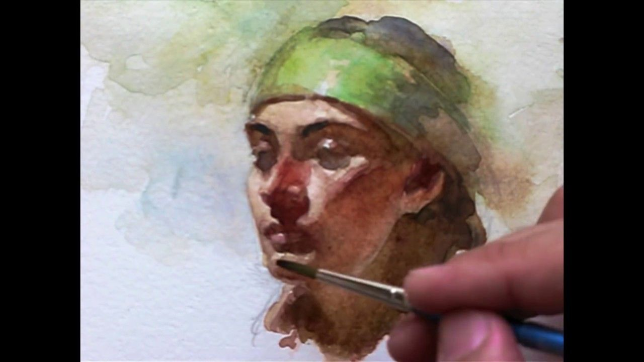 Watercolor Portrait Painting Demo By Zimou Tan Watercolor