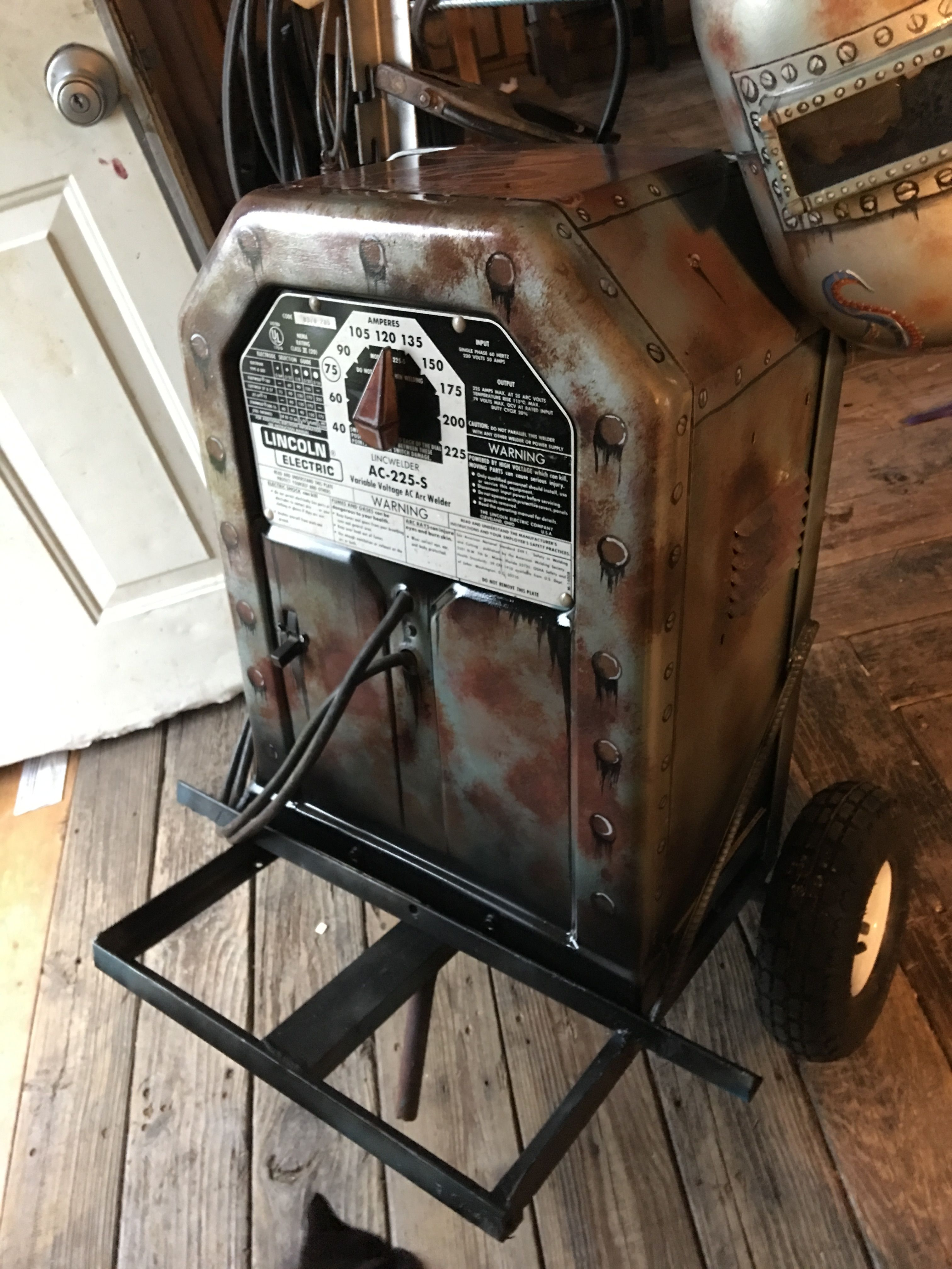 small resolution of custom painted stick welder lincoln welder ac 225 s tombstone buzz box kolby austin