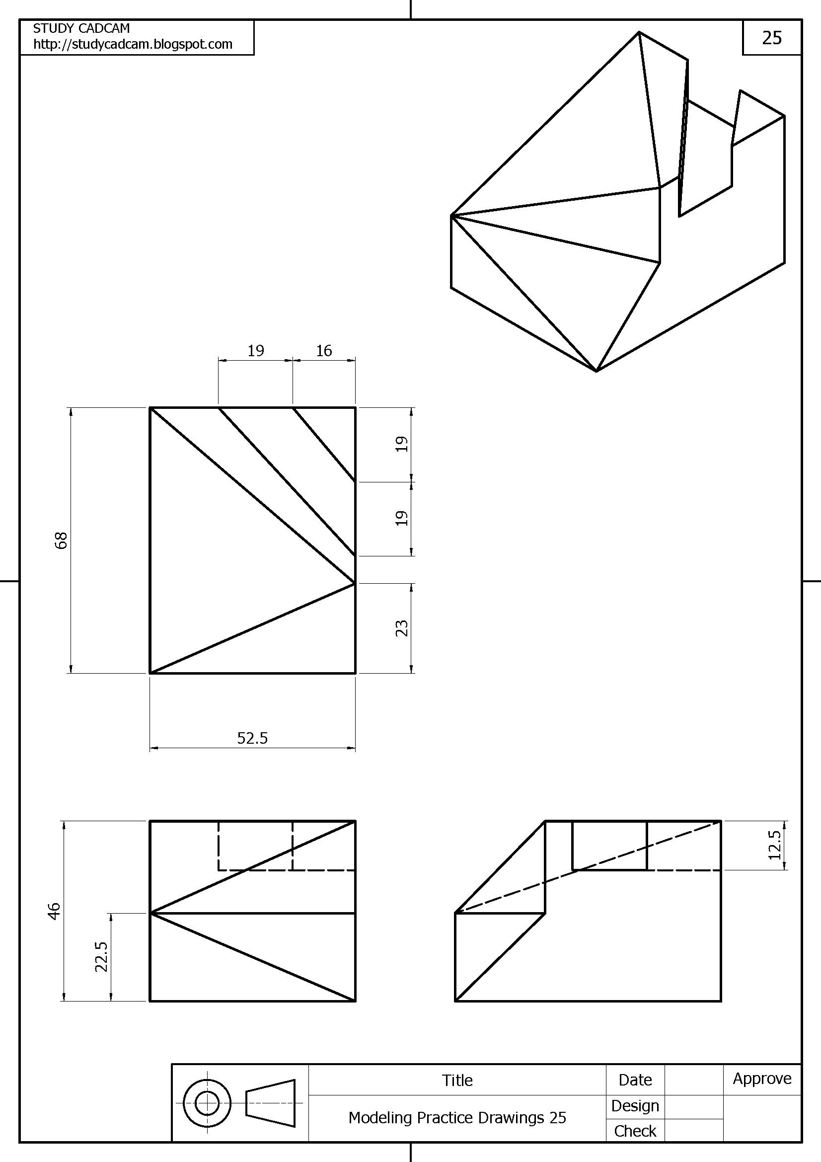 Pin De 스터디캐드캠 Studycadcam En Drawing Libro De Dibujo Tecnico Vistas Dibujo Tecnico Clases De Dibujo