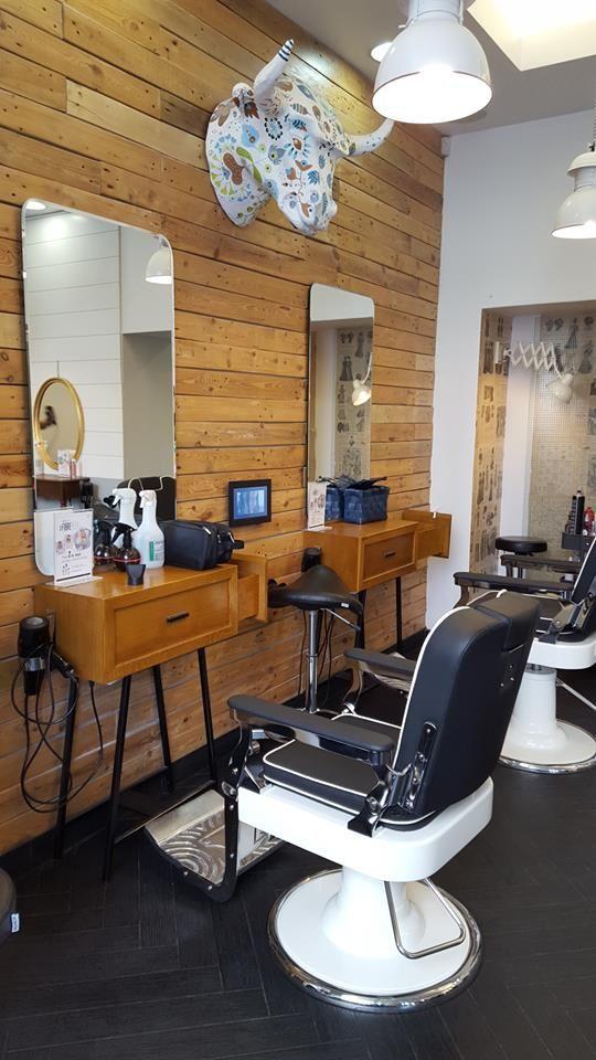 Barber Shop Area At Miłek Salon In Warsaw Barberchairs By Ayala Salon  Furniture And Bespoke Units. #barbershop #barberchair #mansalon