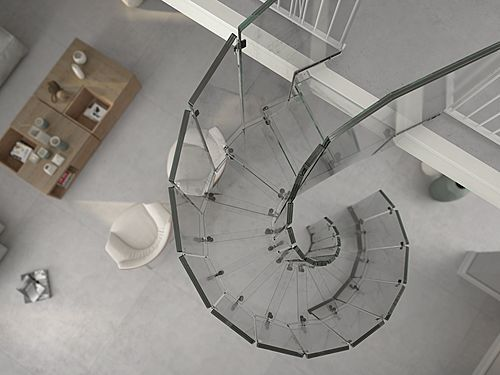 Best Helical Design Stairs Glass Glass Glass By Siller 400 x 300