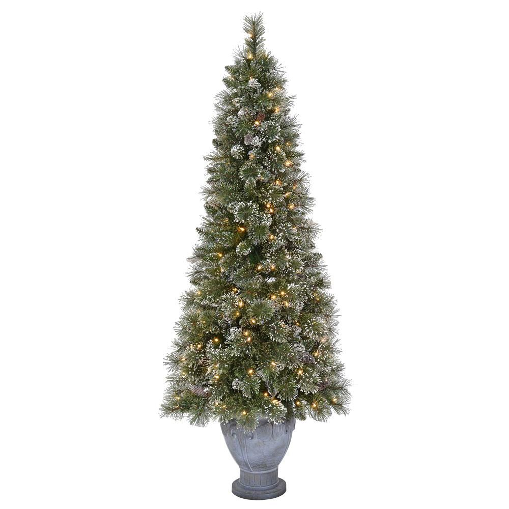 Martha Stewart Living 6 5 Ft Pre Lit Sparkling Pine Artificial