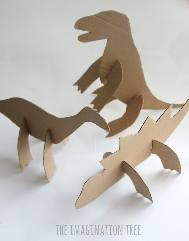 Photo of Cardboard Dinosaur Craft for Kids! – The Imagination Tree