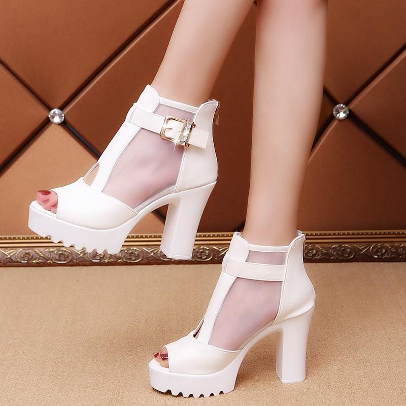 Middle Heel Sandals Ankle Boots