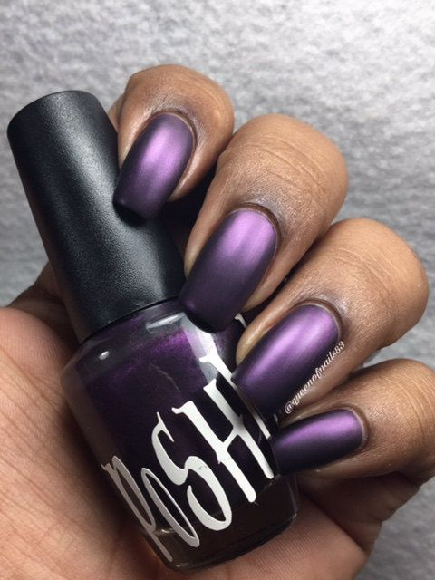 Unique Playboy Damson Pearl Plum Purple Nail Polish by PoSHlish
