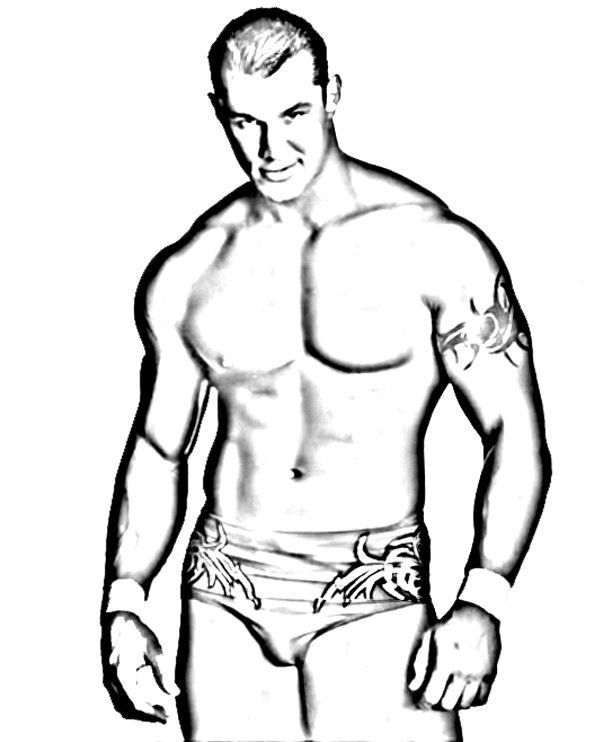 Wrestlers 5 1 Printable Wrestling WWE Coloring Pages
