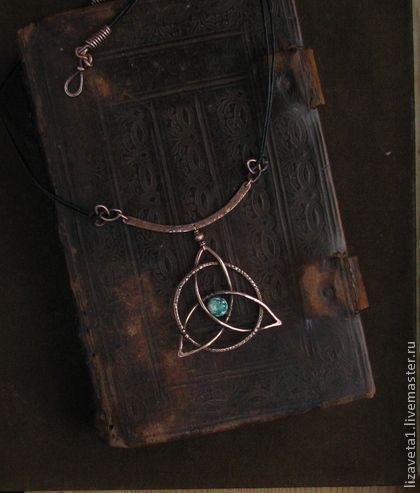 Trikvetr. Copper pendant by Liza Kusilova