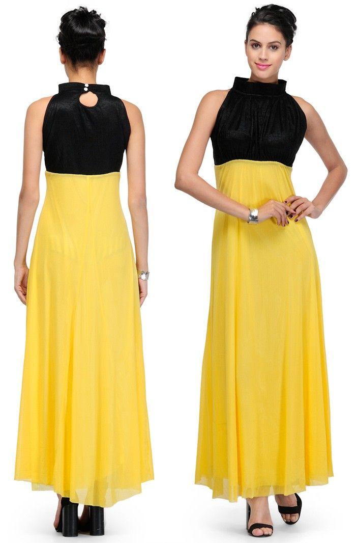 Yellow Viscose Readymade Dress  | US$33