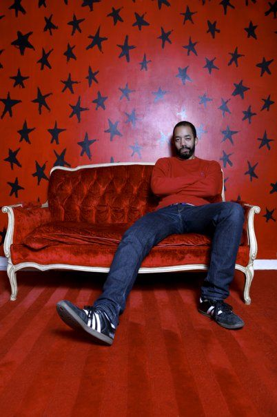 Wyatt Cenac and the red star wall