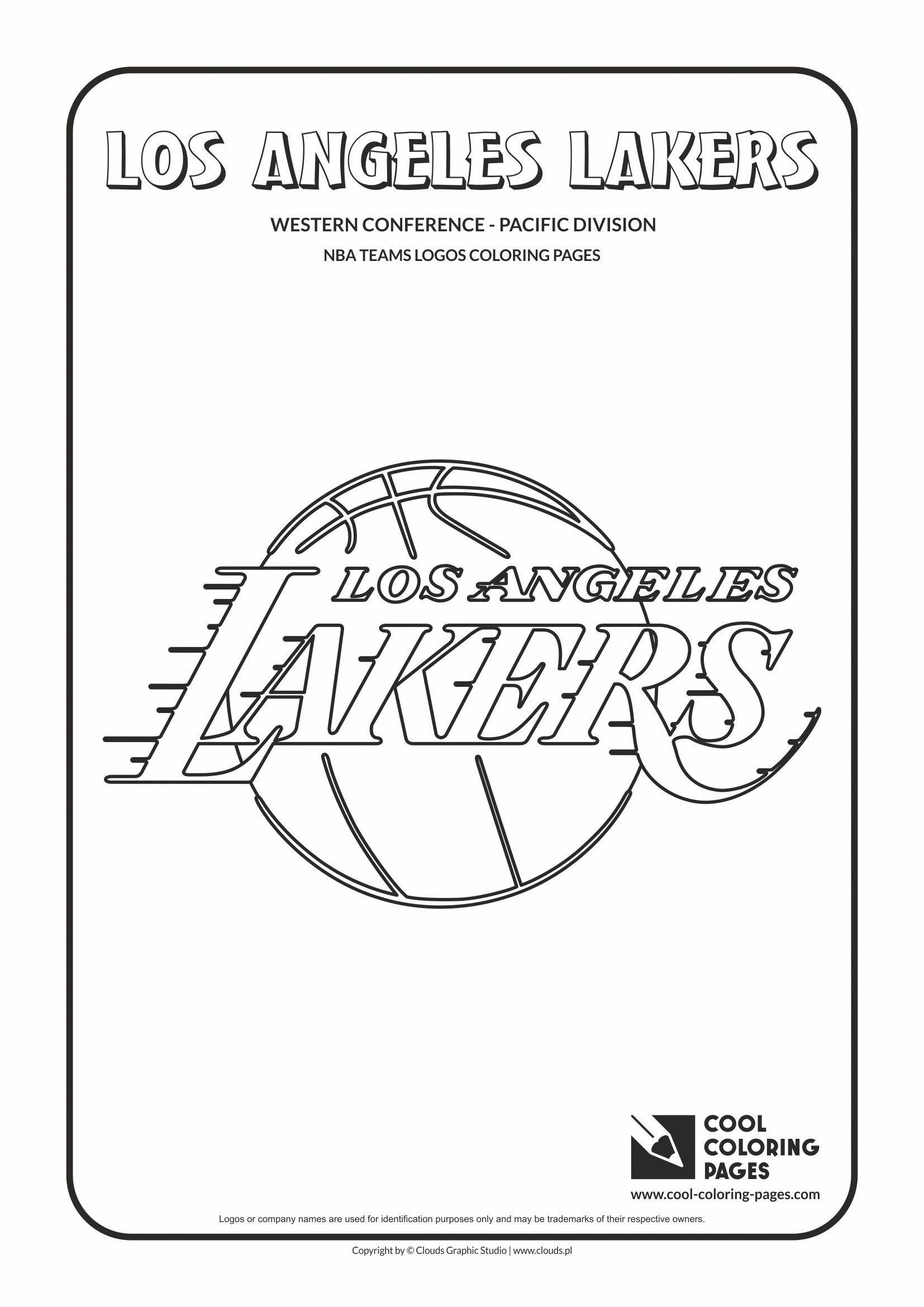 Cool Coloring Pages Nba Basketball Clubs Logos Western Conference Pacific Basketballclub Coloring Pages Basketball Teams Nba Basketball Teams