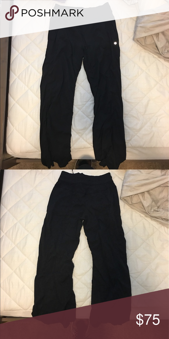595fa3271 Lululemon track pants (black) Lululemon black dance studio pants ...