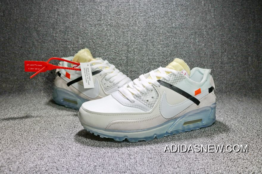 NIKE THE Order 10 AIR MAX 90 VIRGIL ABLOH OFF Best Quality WHITE SAIL AA7293-100