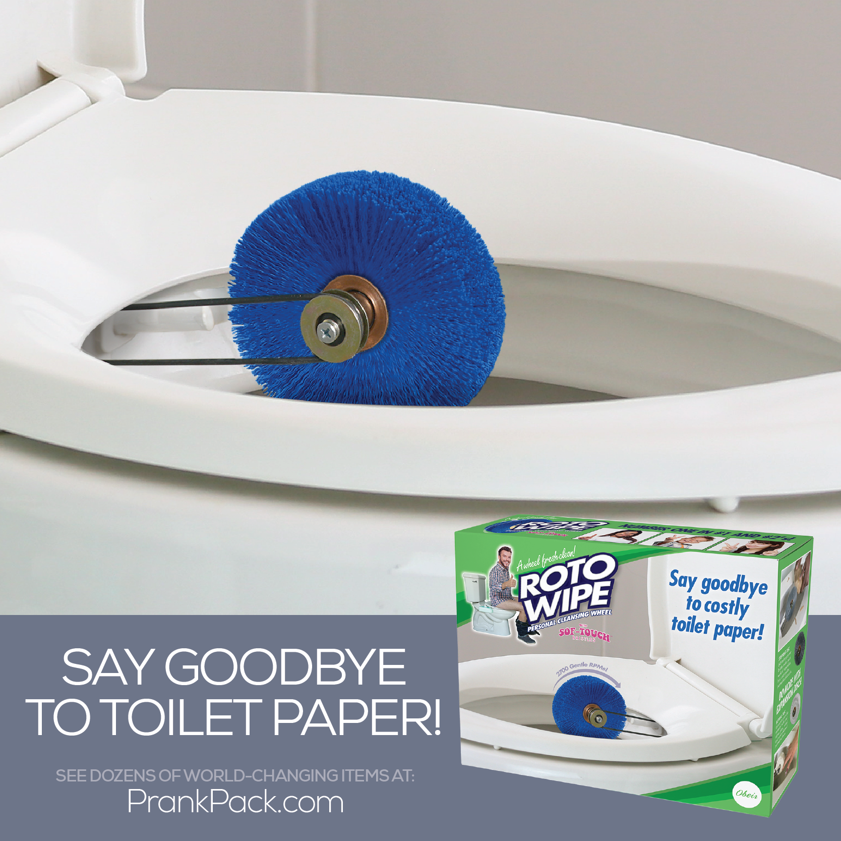You Ll Never Buy Toilet Paper Again Thanks To Roto Wipe Link In Bio Toilet Bathroom Pranks Prankpack Gadget Funny Pictures Funny Signs Funny Memes