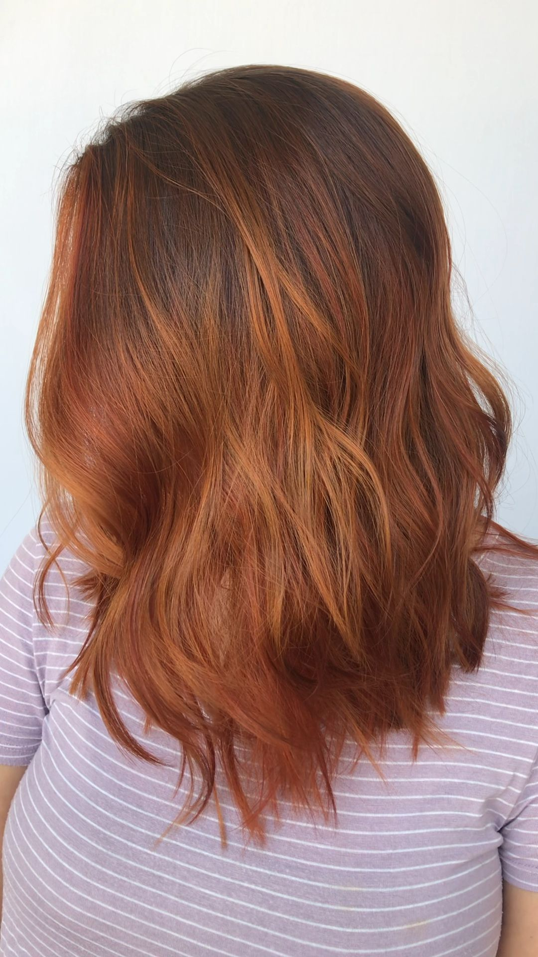 Dimensional Red Balayage