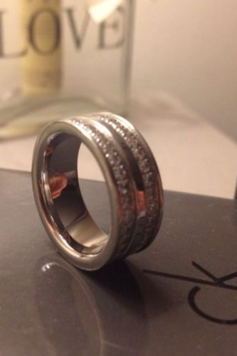 Calvin Klein 100% Authentic Cubic Zirconia Ring Size L  FOR SALE  #ebay #fashion #designer #calvinklein #rings #jewellery