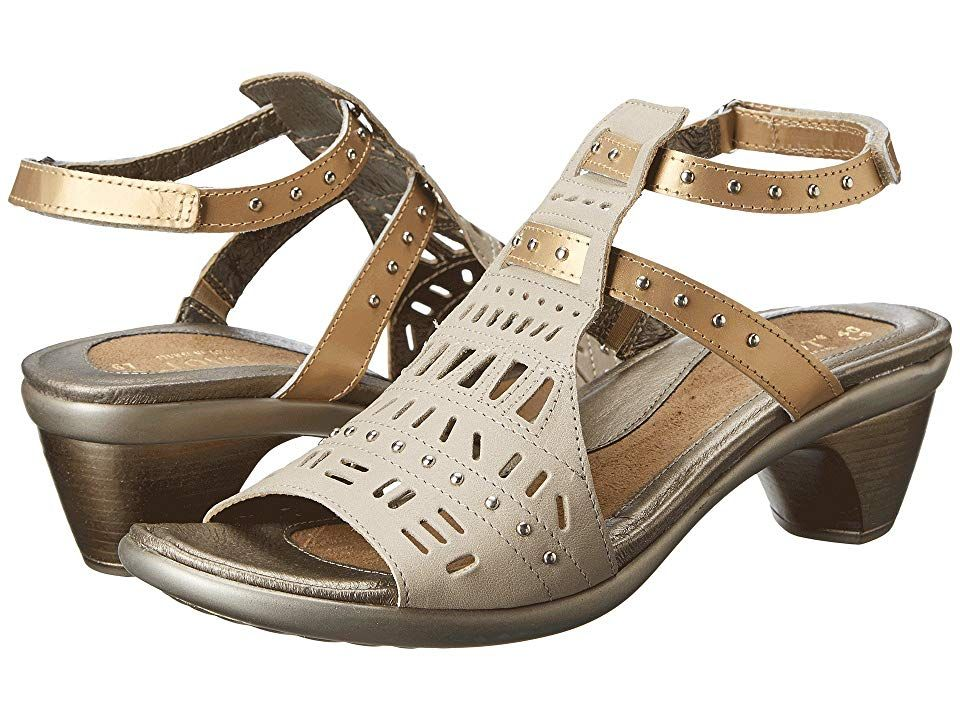 58f22b1bdaf0 Naot Vogue (Linen Leather Gold Sheen Leather) Women s Sandals. The Vogue  sandal is from the Naot Avant-Garde Collection which runs as a  Narrow-to-Medium ...