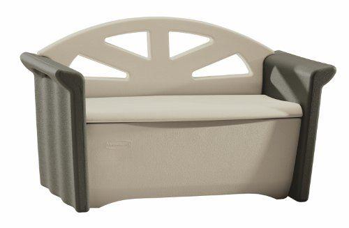The Rubbermaid Fg376401olvss Patio Storage Bench Provides