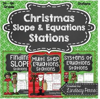 Have your students practice finding slope, solving multi-step equations and solving systems of linear equations in a way that allows them to get up and move around the room! During the winter, students get a little more restless than usual, so these winter themed stations provide the perfect opportunity for learning in a way that does not include a traditional worksheet!