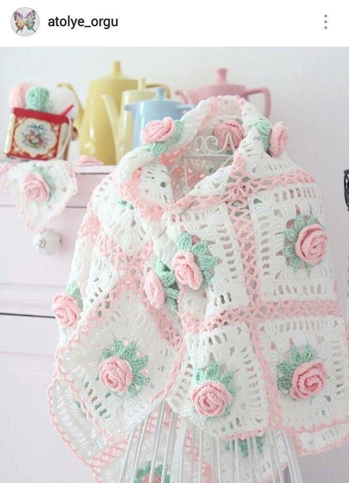 IG ~ @atolye_orgu ~ crochet baby blanket | Crochet afghans/baby ...