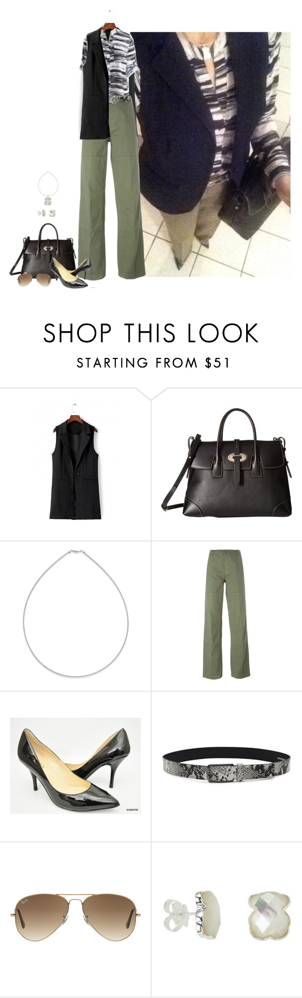 """""""Untitled #2619"""" by elia72 ❤ liked on Polyvore featuring Belk & Co., Tory Burch, GUESS and Ray-Ban"""