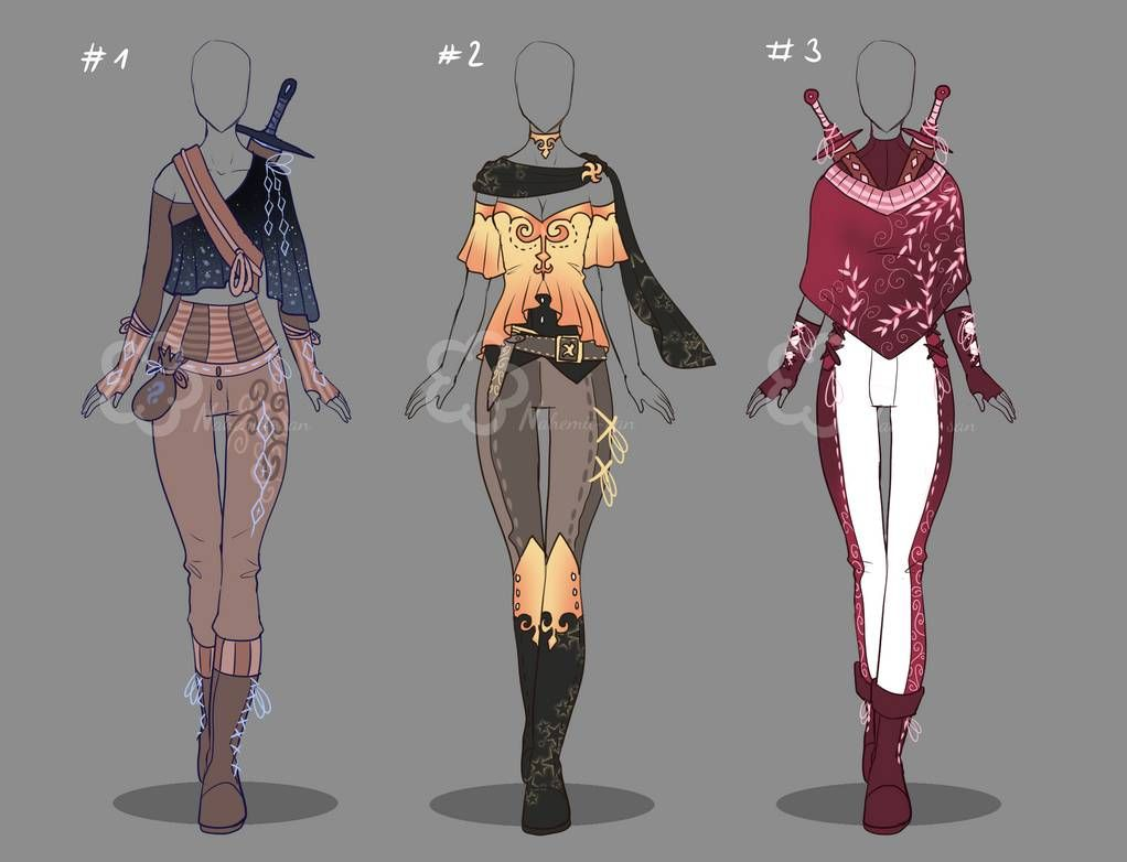 Assassin Inspired Outfit Adopts Closed By Nahemii San On Deviantart Fantasy Clothing Character Outfits Anime Outfits