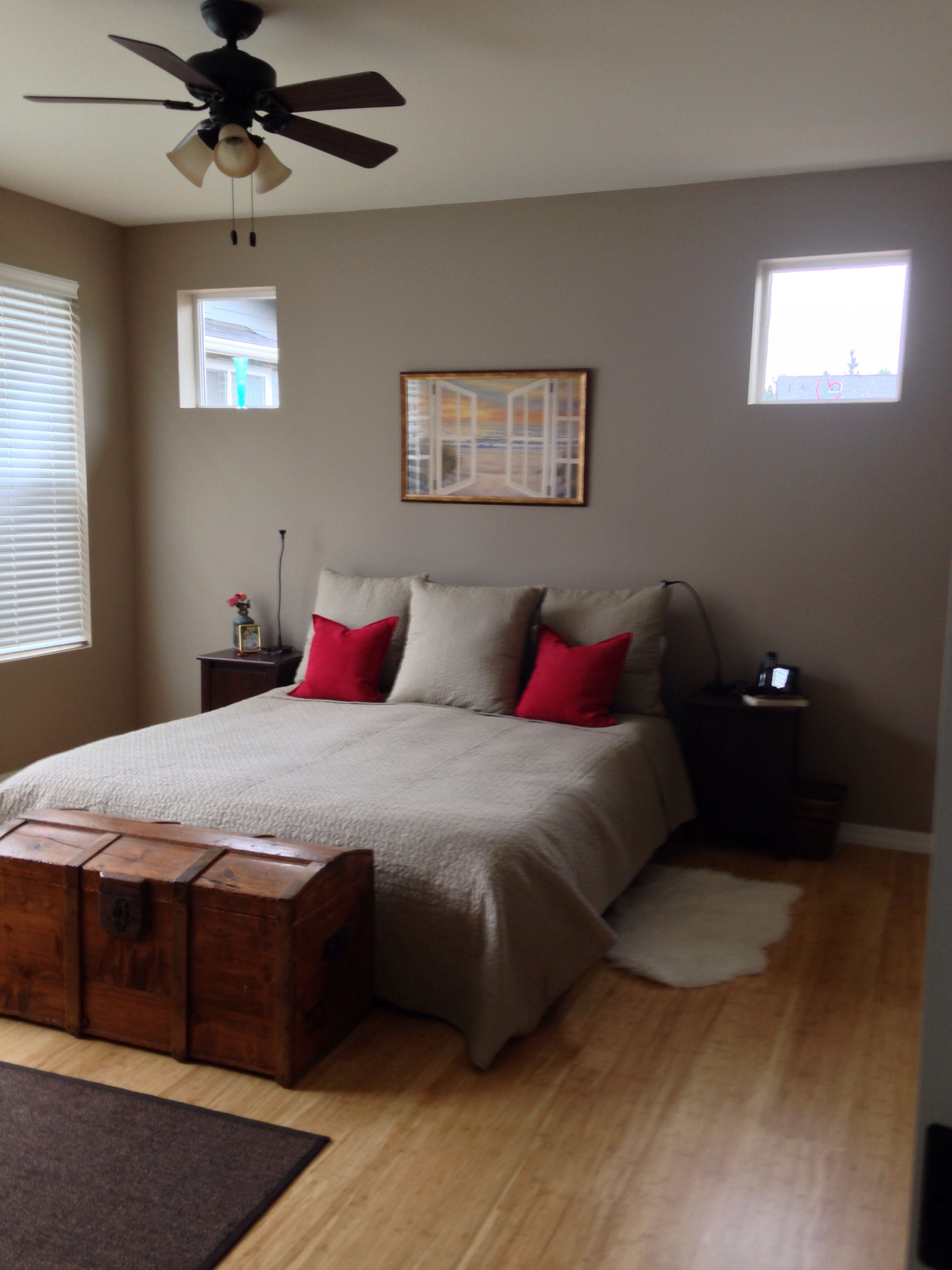 Utterly beige (Sherwin Williams) bedroom. Paint Colors