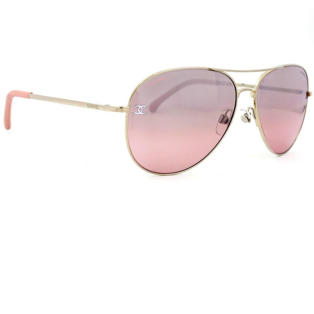 cb0d7615f727 Chanel Pilot Summer Sunglasses with Pink Mirror Lenses 4189TQ C124/7E # CHANEL #Pilot